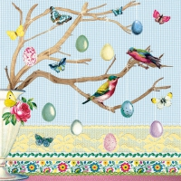 Serviettes lunch Easter Branch Blue