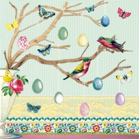 Serviettes lunch Easter Branch Green
