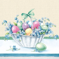 Serviettes lunch Eastereggs In Bucket Yellow