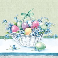 Lunch napkins Eastereggs In Bucket green