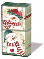 handkerchiefs Happy Snowmen