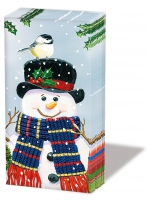 handkerchiefs Snowman Couple