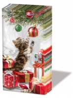 handkerchiefs Kitten And Bauble