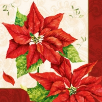 Cocktail napkins Christmas Time Red