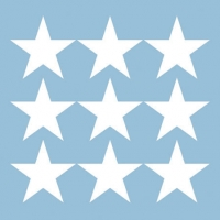 Cocktail napkins STARS NEG. LIGHT BLUE