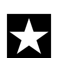 Cocktail Servietten STAR BLACK