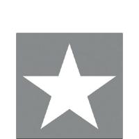 Serviettes de table 25x25 cm - Gris Étoile