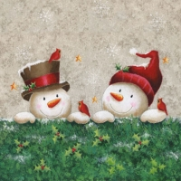 Cocktail napkins SNOWMEN FRIENDS