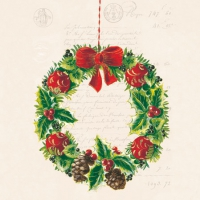 Napkins 25x25 cm - CHRISTMAS WREATH