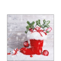 Serviettes cocktail  Santa´s Boot