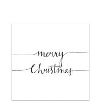 Cocktail napkins Christmas Note White