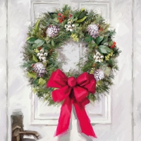 Cocktail napkins White Wreath