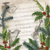 Cocktail napkins Christmas Song