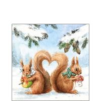 Cocktail Servietten Squirrel Love
