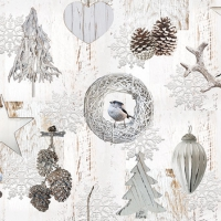 Servetten 25x25 cm - Witte decoraties