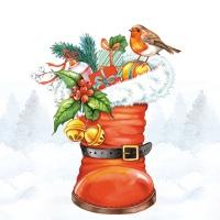 Serwetki 25x25 cm - Boże Narodzenie Boot