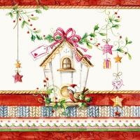 Lunch napkins BIRDS HOUSE