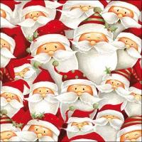 Serviettes de table 33x33 cm - Drôle de Père Noël