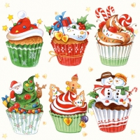 Lunch napkins CHRISTMAS CUPCAKES