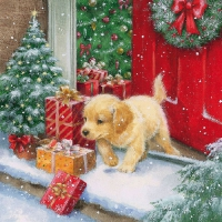 Serviettes lunch X-Mas Puppy