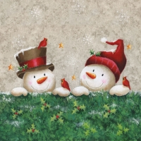 Lunch napkins SNOWMEN FRIENDS