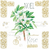 Lunch Servietten NOEL ROSE