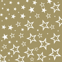 Lunch napkins STARRY SKY GOLD