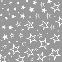 Serviettes lunch Starry Sky Silver