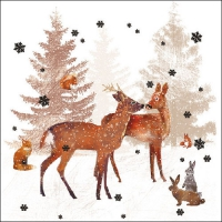 Lunch napkins WOODLAND SCENE
