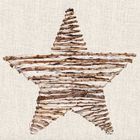Lunch Servietten WOODEN STAR