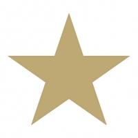 Lunch Servietten STAR WHITE/GOLD