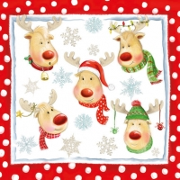 Lunch napkins Funny Reindeers