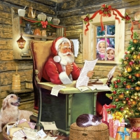 Serviettes lunch SantaS Mail