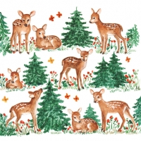 Lunch napkins Baby Deer