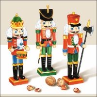 Lunch Servietten Wooden Nutcracker