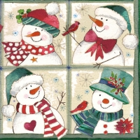 Lunch napkins Happy Snowmen