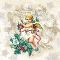 Lunch napkins Angel Fashion Cream