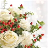 Servilletas Lunch Christmas Roses