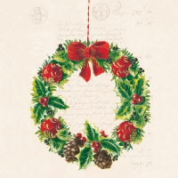 Lunch napkins Christmas Wreath