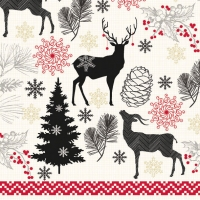 Lunch napkins Christmas Deer