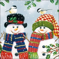 Serviettes lunch Snowman Couple