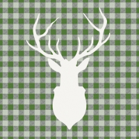 Lunch napkins Deer Outline Green