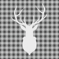 Lunch napkins Deer Outline Grey