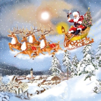 Serviettes lunch Sleigh Ride