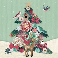 Lunch napkins Fabric Tree