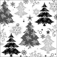 Lunch napkins Design Trees Black