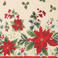 Serviettes de table 33x33 cm - Floral