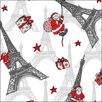 Lunch napkins Christmas in Paris