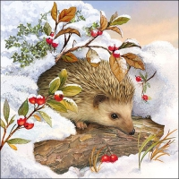 Serviettes lunch Hedgehog In Snow