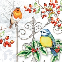 Lunch napkins Birds & Holly